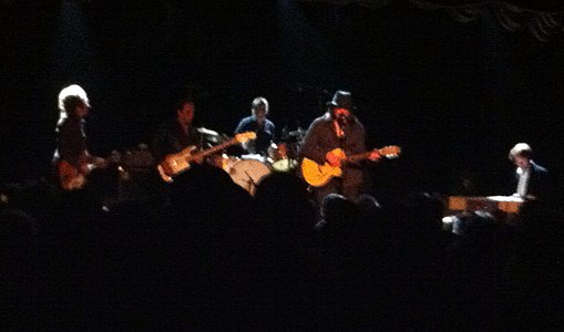 Sixto Rodriguez at San Francisco's 365 club September 29 2012 on stage.JPG