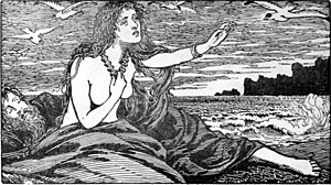 Skaði - Skadi's longing for the Mountains (1908) by W. G. Collingwood
