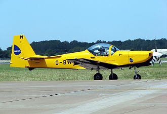 Trainer aircraft - Slingsby T-67 Firefly of the UK Defence Elementary Flying Training School, used for training army and navy pilots