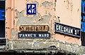 Smithfield signs, Belfast - geograph.org.uk - 1761554.jpg