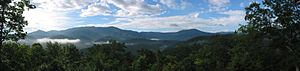 Great Smoky Mountains - 180 degree panoramic view of the Smokies
