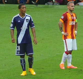 Youri Tielemans - Tielemans and Galatasaray's Wesley Sneijder, September 2014