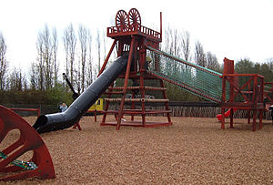 The mining-themed children's playground at Sni...
