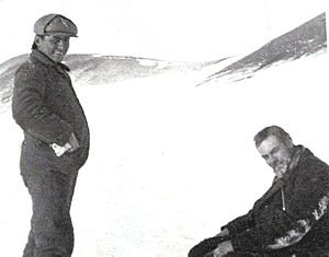 Argentine Antarctica - Otto Nordenskjöld (right) with José María Sobral (left) in Snow Hill Island.