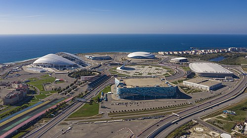 Aerial view of the Sochi Olympic Park