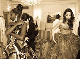 Bal des débutantes - Deb Sokhna N'dour dressing for le Bal in 2008