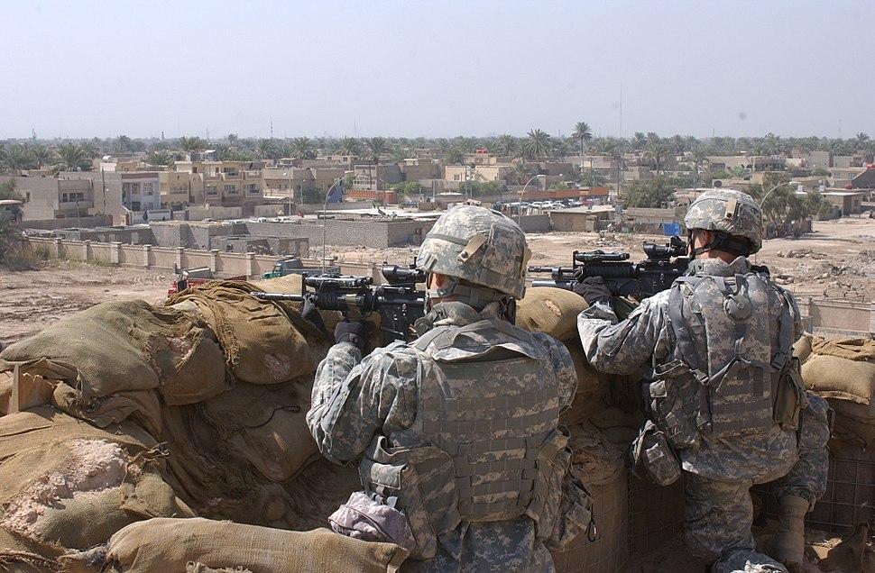 Soldiers in Baghdad