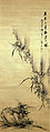 Somon Tetsuoh Orchid ink on paper hanging scroll Nagasaki Museum.jpg