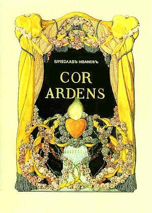 Vyacheslav Ivanov (poet) - Somov's frontispiece for Ivanov's book Cor Ardens (1907).