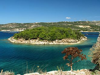 Souda - Image: Souda Bay from the of the Venetian fortress at Souda Island