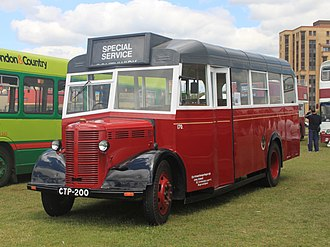 Duple Coachbuilders - preserved 1944 Bedford OWB with replica Duple utility body. Wartime bodies used untreated timber and often had short lives