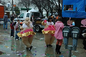 Fatsuit - Image: Spanish Town Mardi Gras Fat suit fools