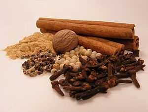 Spices used for Speculaas (a Dutch cookie). Sp...
