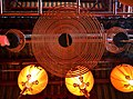 Spiral incense in Man Mo Temple, Hollywood Road. Aug. 2015.JPG