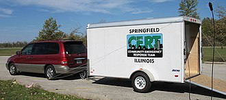 Community emergency response team - An equipment trailer belonging to the Springfield, Illinois CERT program.