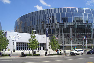 Sprint Center - Sprint Center entrance from Grand Boulevard in 2008.