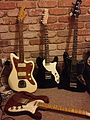 Squier Jazzmaster, Telecaster Thinline (black & brown), Jaguar Bass.jpg