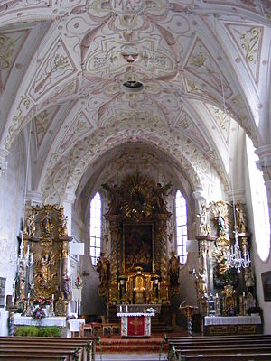 Rottach-Egern - Interior of St. Laurentius church