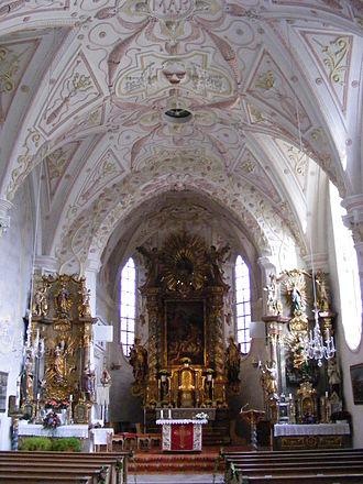 Rottach-Egern - Interior of St. Laurentius church