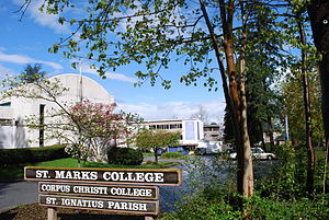 Corpus Christi College (Vancouver) - Image: St. Mark's College & Corpus Christi College
