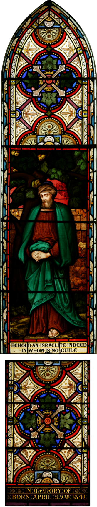 Nathaniel - The biblical Nathanael depicted in stained glass.