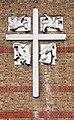 St Barnabas, Grove Road, London E3 - Exterior cross (geograph 2340653).jpg