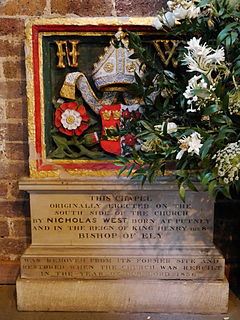 Nicholas West Bishop of Ely