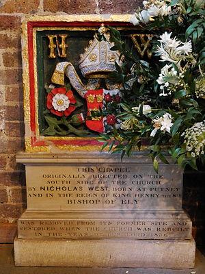 St Mary's Church, Putney - Nicholas West memorial