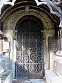 St Mary's church, Brettenham, Norfolk - the Norman south doorway - geograph.org.uk - 1701039.jpg