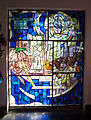 Stained glass window in the Galyatető Roman Catholic church.jpg