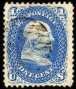 Stamp US 1868 1c Z grill Miller.jpg