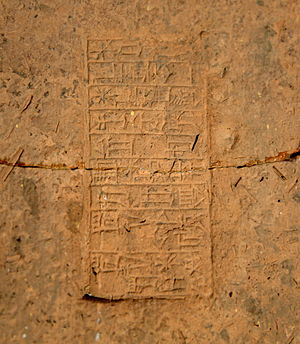 Amar-Sin - Stamped mud-brick of Amar-Sin