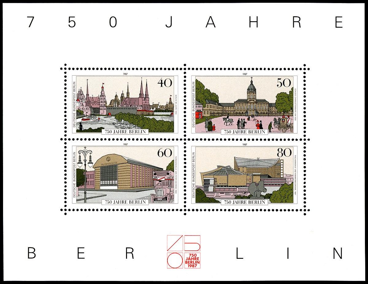 Briefmarken Jahrgang 1987 Der Deutschen Bundespost Berlin Wikipedia