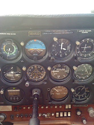 Flight instruments - Typical instrument configuration of a Cessna 172