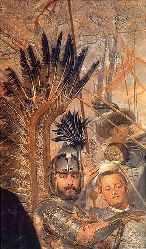 Stanisław Żółkiewski - Stanisław Żółkiewski and Baltazar Batory at Pskov, detail from a painting by Jan Matejko