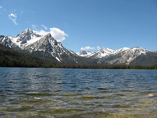 McGown Peak mountain in the Sawtooth Range in Idaho