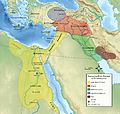 Starożytny Bliski Wschód w XV wieku p.n.e. (Ancient Near East 1450 B.C.).jpg