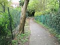 Start of footpath from Pease Croft down to the old school - geograph.org.uk - 795410.jpg