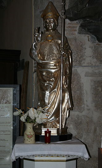 Diocesan museum of Ascoli Piceno, Italy - A silver statue of Saint Emygdius in the Cathedral of Ascoli Piceno similar to the one by Pietro Vannini
