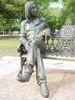 Statue of John Lennon in Public Park - El Vedado - Havana - Cuba