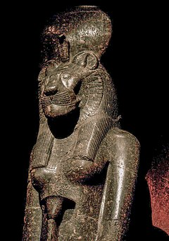 Statue of Sekhmet in the Turin Museum, Italy