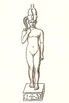 Statuette of Harpocrates from the Ptolemaic period, believed to bear the throne name of Nebiriau II
