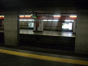 Lepanto (Rome Metro) - Image: Stazione di Lepanto
