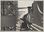 Steam train crossing the Harbour Bridge, 1932 (8283744600).jpg