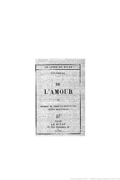 File:Stendhal - De l'amour, II, 1927, éd. Martineau.djvu
