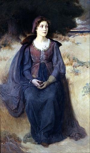 Douglas Volk - Ye Maiden's Reverie (1898), Berkshire Museum.