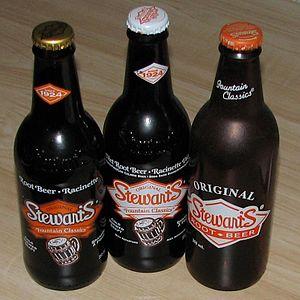 Stewart's Fountain Classics - Various Stewart's root beer bottles