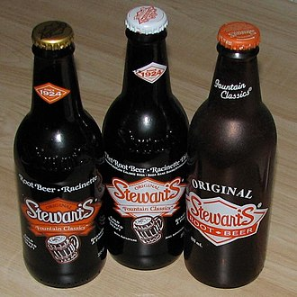 Stewart's Fountain Classics - Various Stewart's root beer bottles