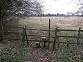 Stile and footpath off Ashotts Lane - geograph.org.uk - 1185564.jpg