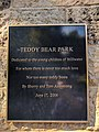 Stillwater in September 2017 15 - Teddy Bear Park plaque.jpg